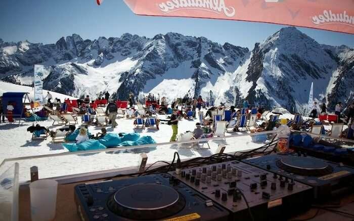 Music and ski festival in Austria