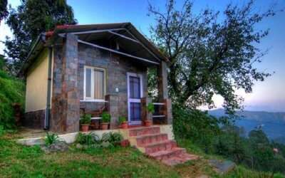 The beautiful view of Rashi Resort in Chail in Himachal
