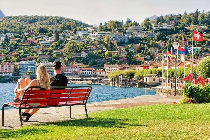 couple on honeymoon in ticino