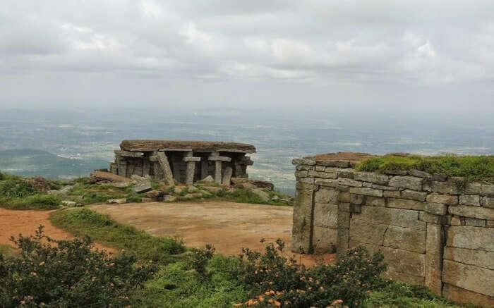 ancient ruins of the hills of Skandagiri