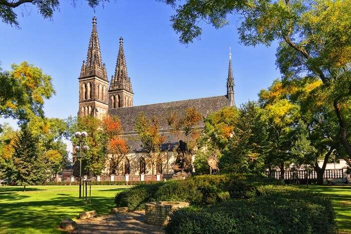 Cathedrals of St. Peter and St. Paul in the Vysehrad fortress in Prague