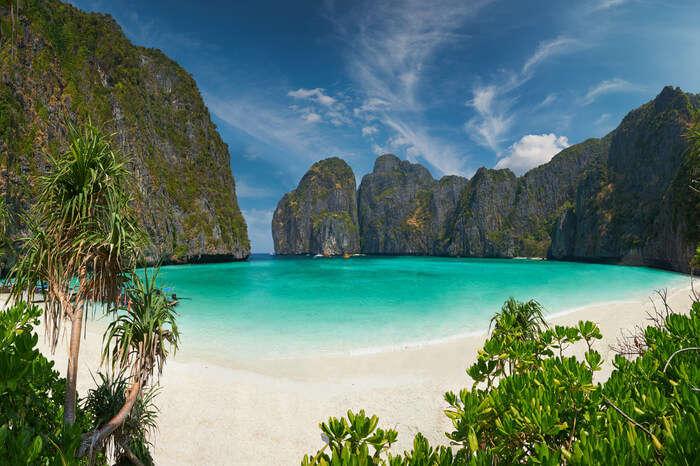 A beach in Koh Phi Phi