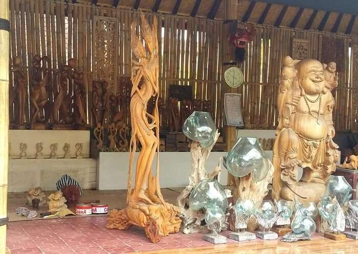 wood workshop in Bali