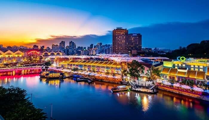 cruise tour in Singapore