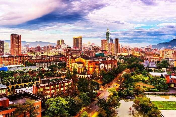 Skyline of Taipei