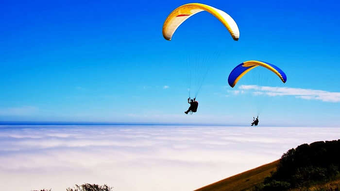 paragliding in Kamshet, Maharashtra
