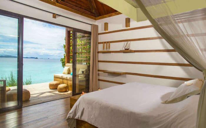 A beautiful bedroom view of Constance Tsarabanjina in Madagascar