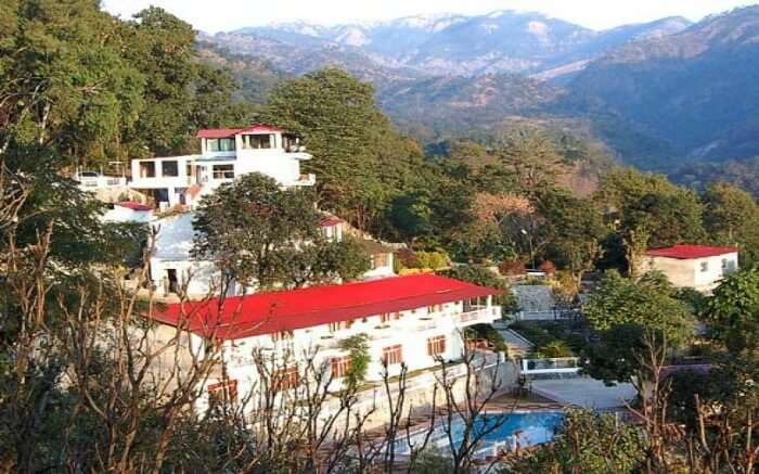 A beautiful resort in the middle of the hills