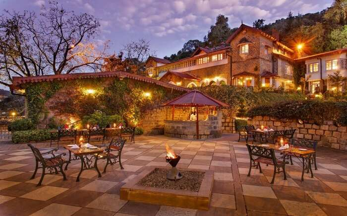 A beautiful resort with a huge lawn in Nainital