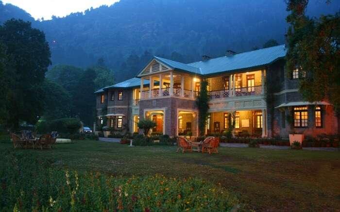 A well lit beautiful resort in Nainital