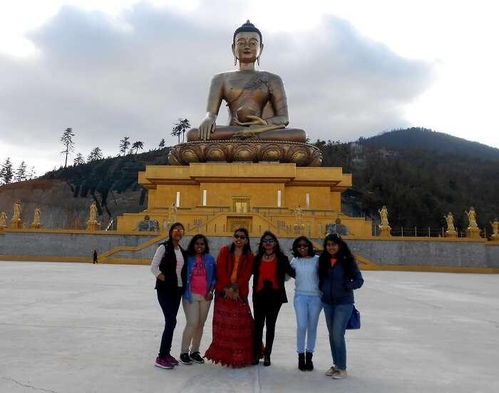 monali and friends at Buddha Dordenma