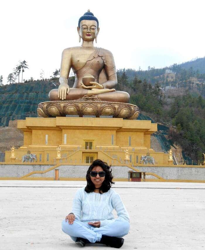 monali at Buddha Dordenma