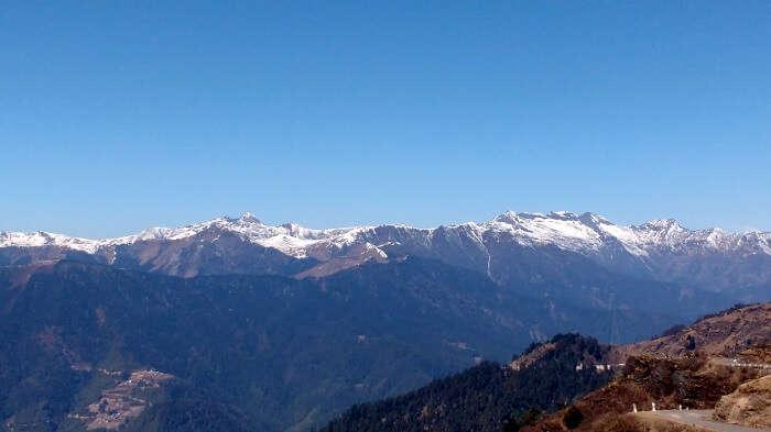 views of himalayas