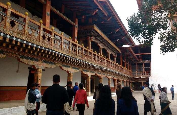 bhutan monastery interior