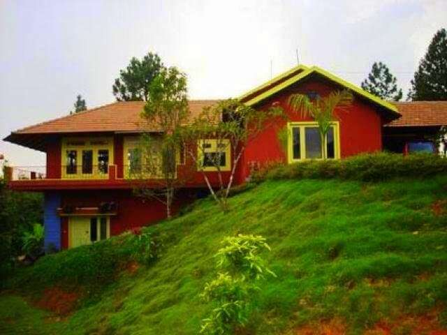 a homestay painted red