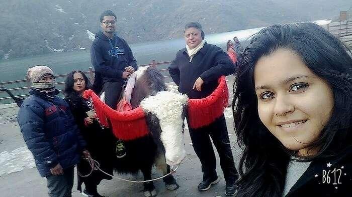 family trip to tsomgo lake