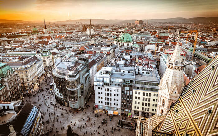 Aerial view of Vienna