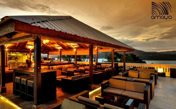 Beach facing restaurant of Seashell Hotel in Port Blair