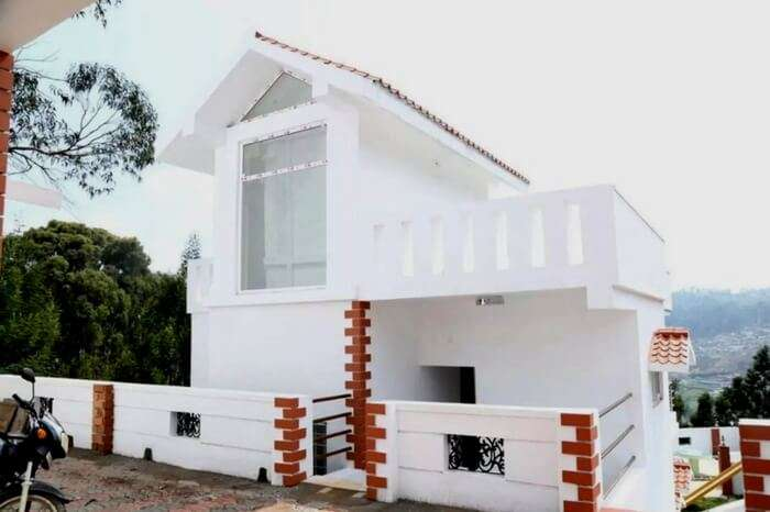 A quaint looking villa from Green Mount in Ooty