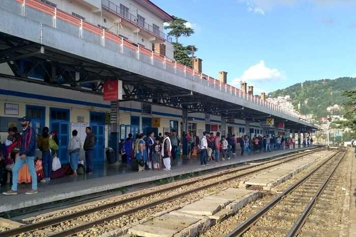 shish on a station enroute kalka shimla train route