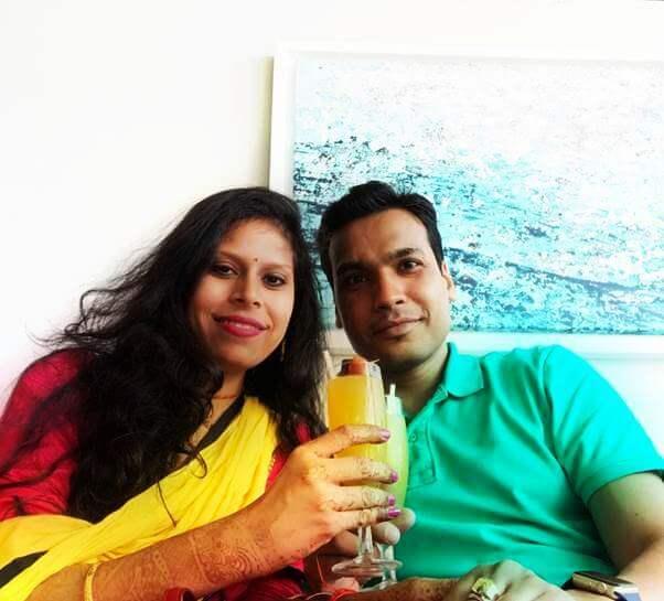 Couple on honeymoon in Mauritius
