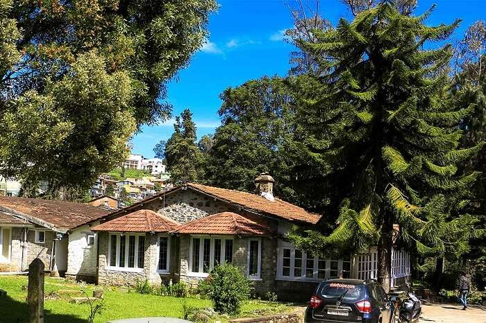 Gardens and exteriors of the Dalethorpe homestay in Kodaikanal