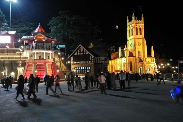 shish at mall road in shimla