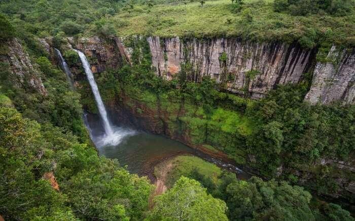 Aerial view of Mac Mac Falls near Kruger