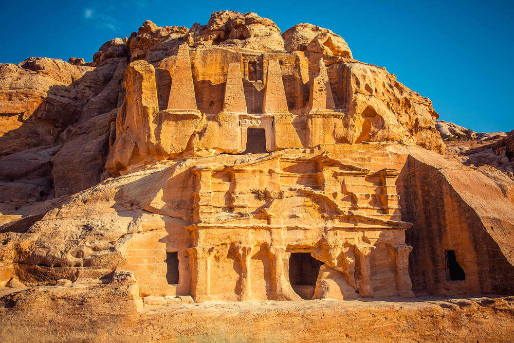 Ancient tombs in Wadi Rum