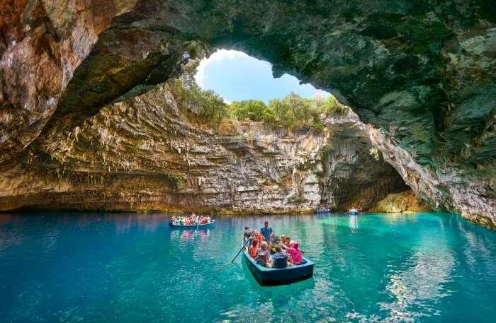 surreal Melissani Cave