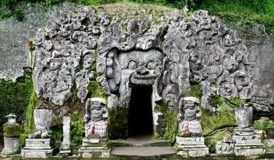 Elephant cave temple bali