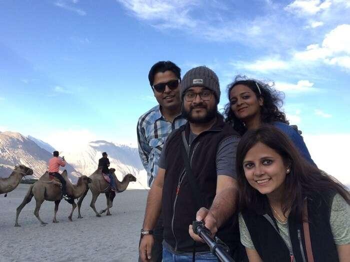 friends trip to nubra valley