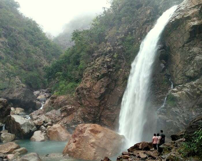 cascading waterfalls in meghalaya