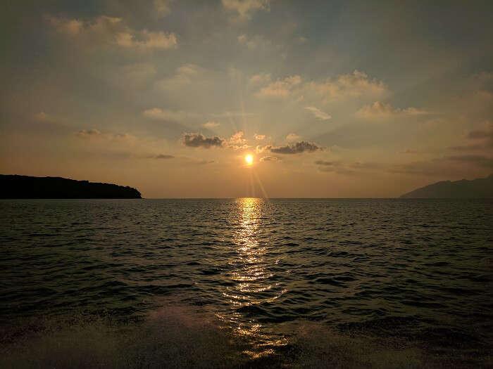watching sunset in langkawi malaysia