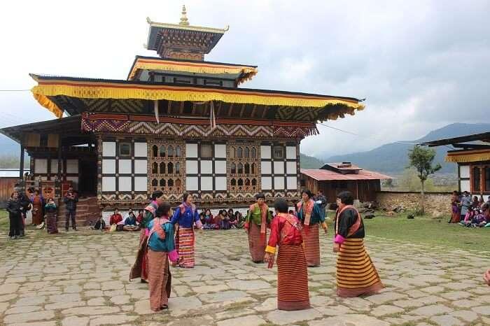 local dance of bhutan
