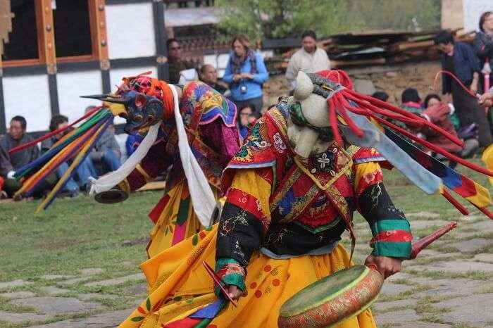 bhutan masked performance