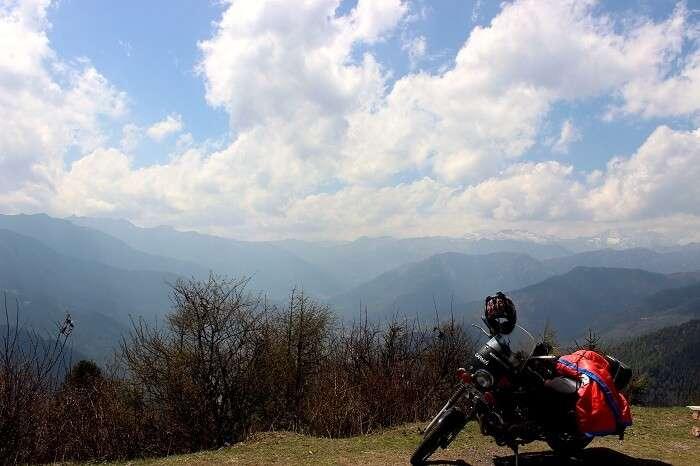 Mount Jomolahri in bhutan