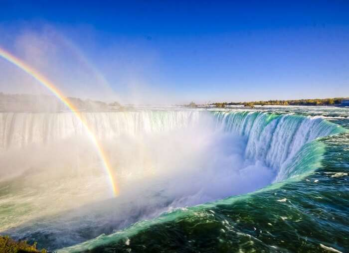 Niagara Falls With Rainbow in Canada