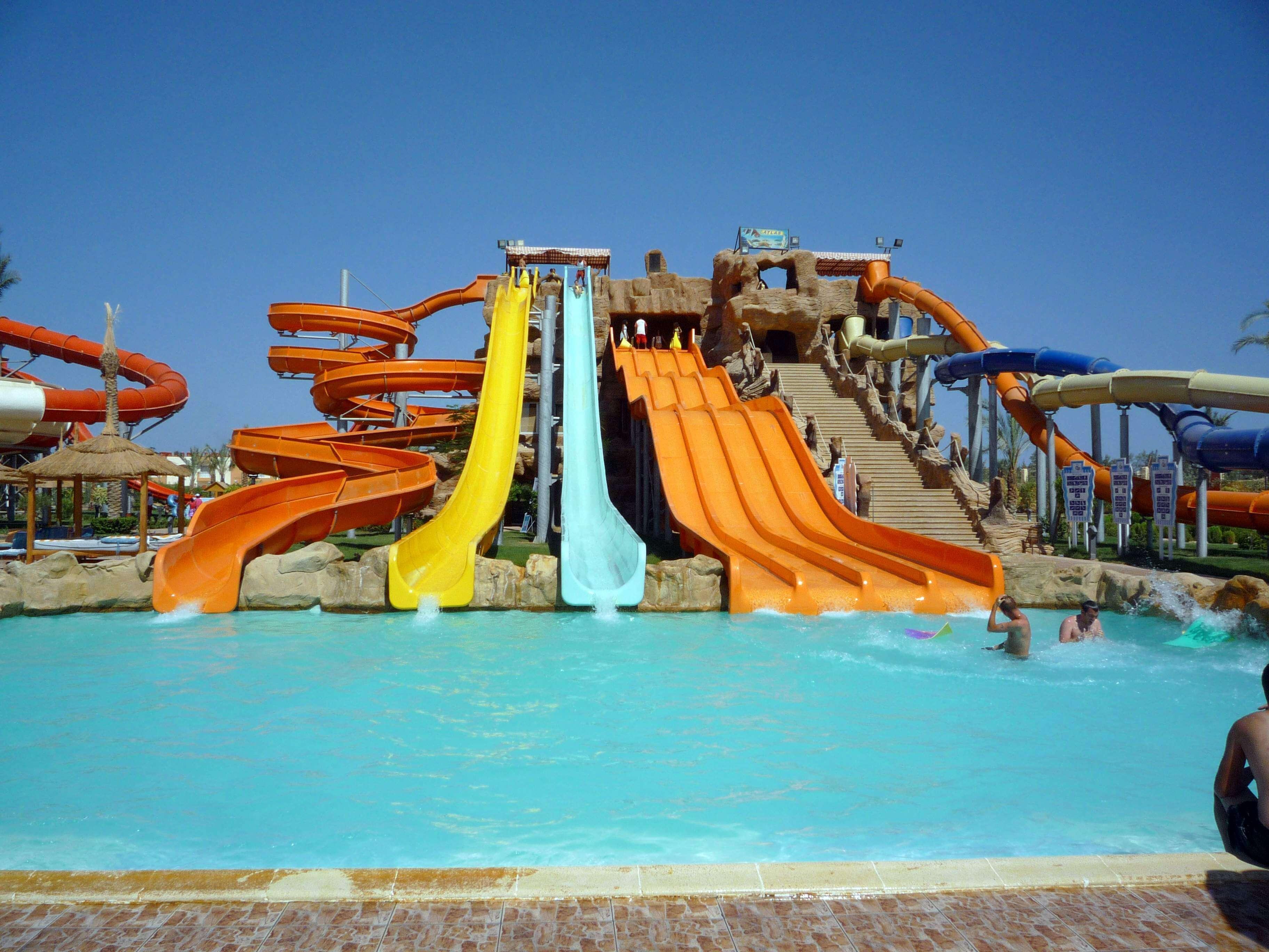 beautiful water swings inside a resort