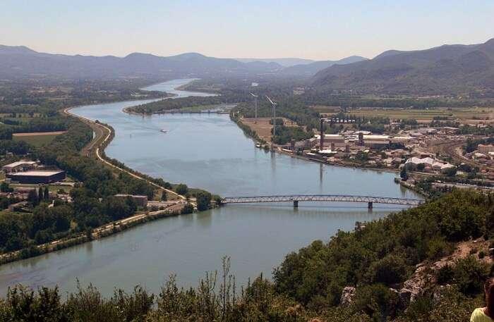 Rhone, flows through France & Switzerland