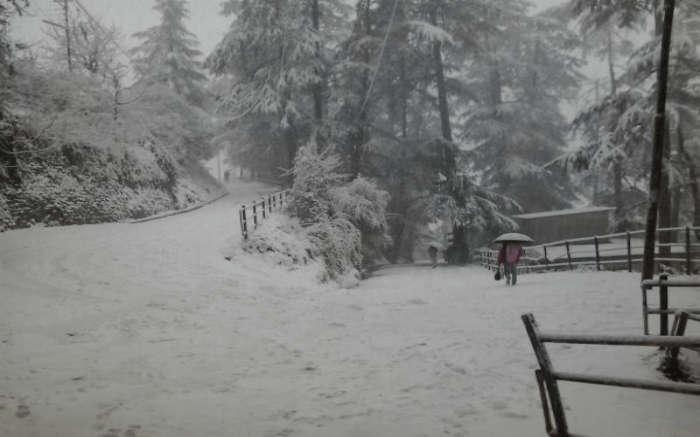 Snow-covered Rohru