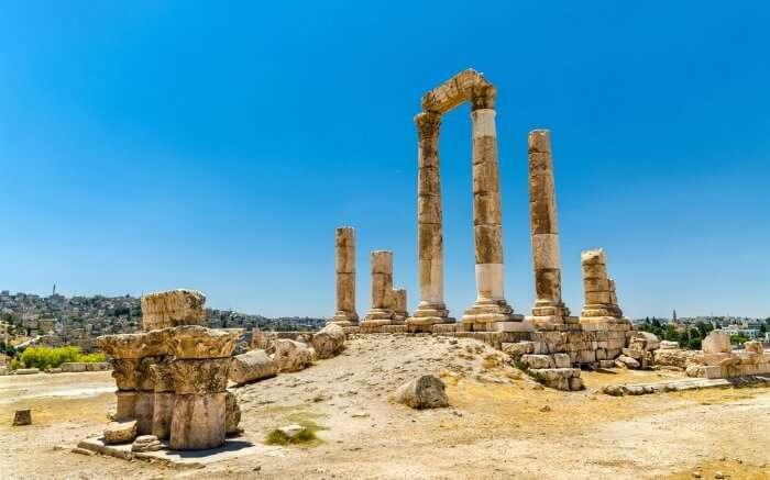 The legendary Roman Corinthian columns at Citadel HillA