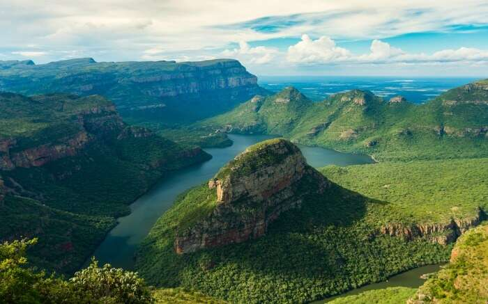 The majestic view of Blyde River Canyon near Kruger National Park