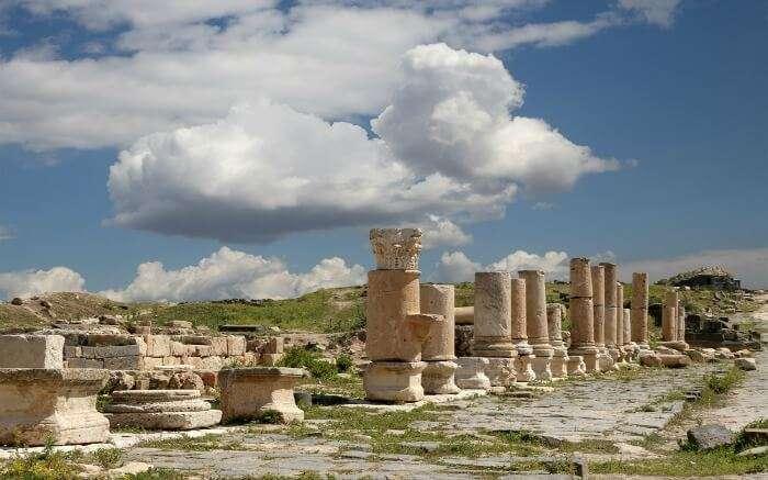 The picturesque Roman ruins at Umm Qais