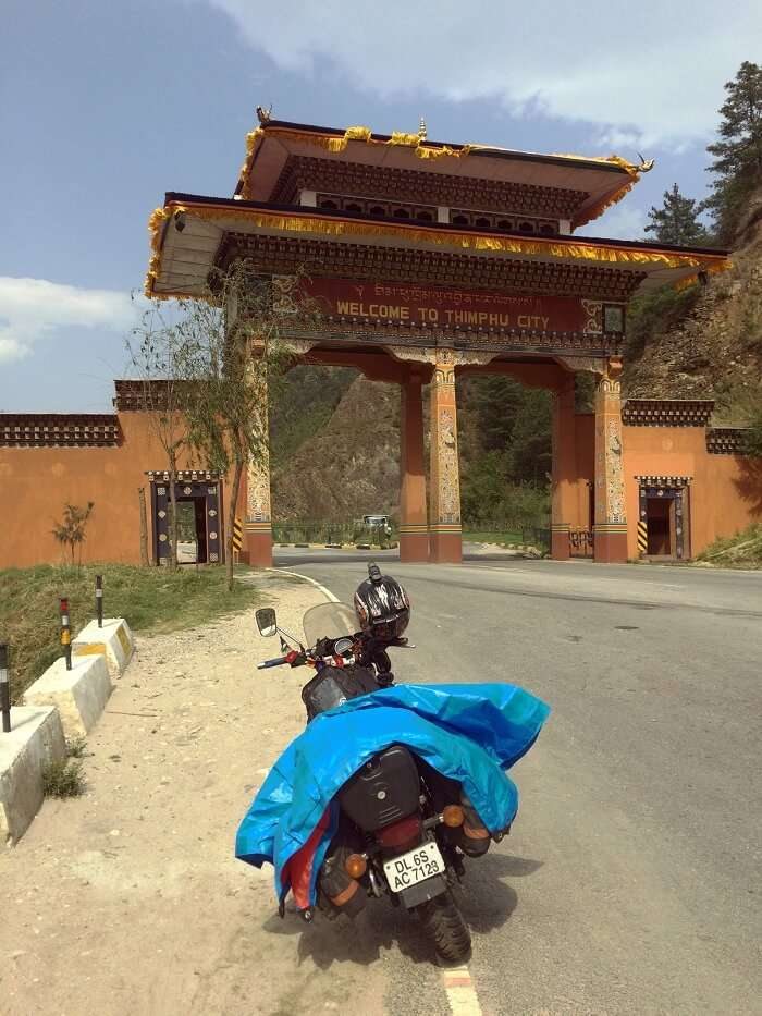thimphu gate in bhutan