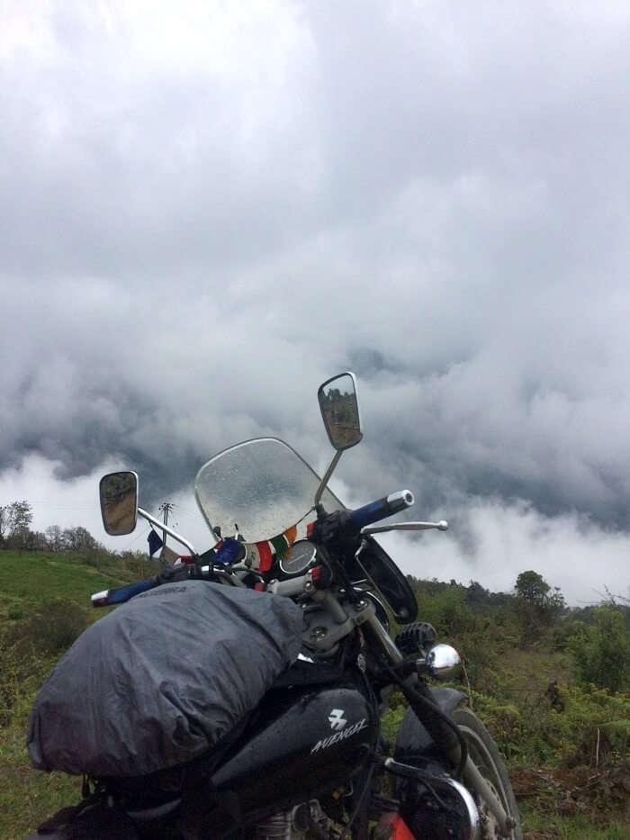 solo bike trip to bhutan