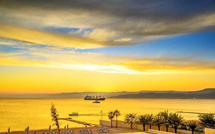 View of Red Sea in Jordan