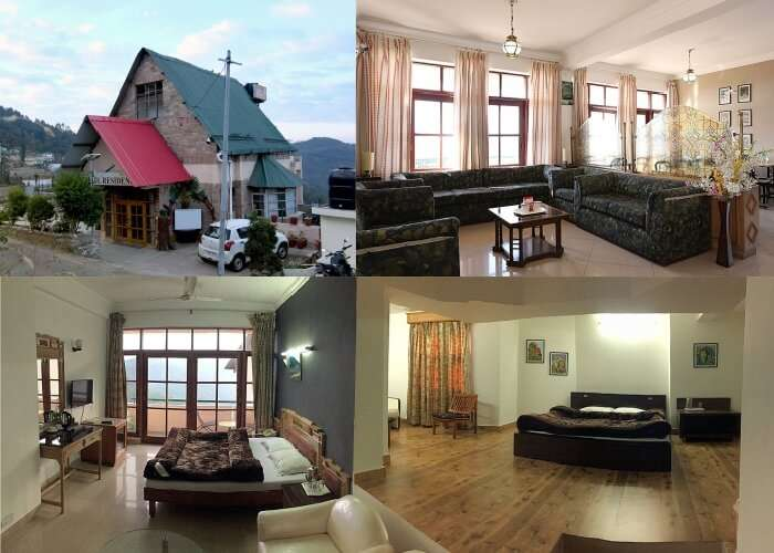 A collage showing various scenes from Hotel Chail Residency