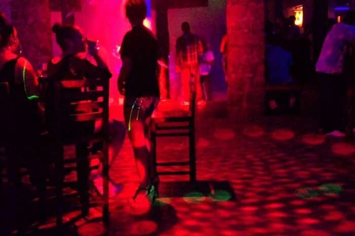 The interiors of the Katiolo nightclub on Mahe island of Seychelles