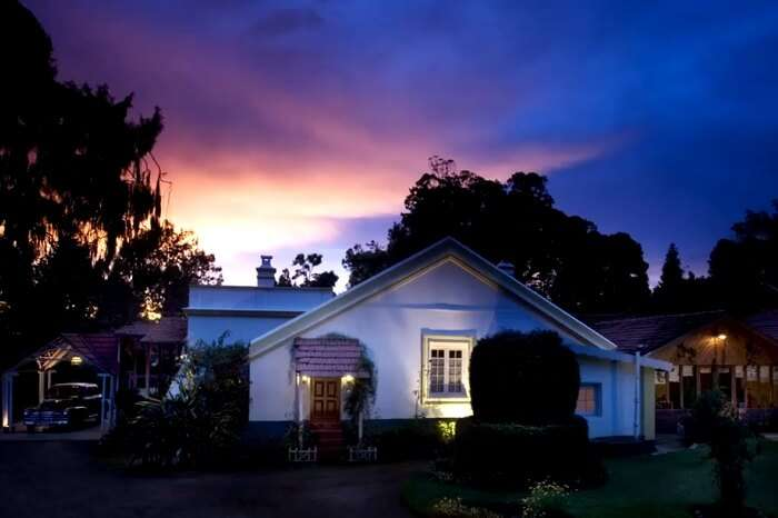 A sunset shot at the Lymond House in Ooty